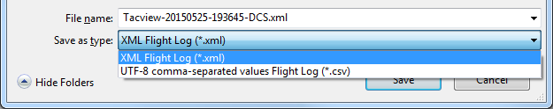 Flight log format