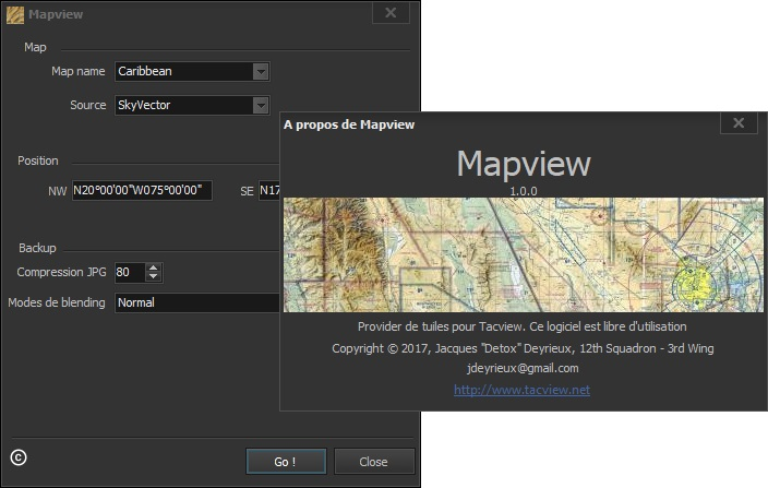 Create VFR maps for Tacview in just a few minutes!